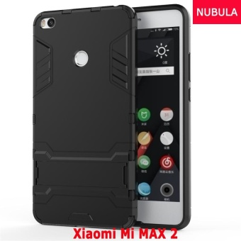 NUBULA 360 degrees Ultra-thin Hard Back Cover For Xiaomi Mi MAX 2Detachable 2 in 1 Hybrid Armor Shell Case Dual-Layer FullProtective Shockproof Case Cover/Anti falling Phone Cover WithBuilt-in Kickstand - intl