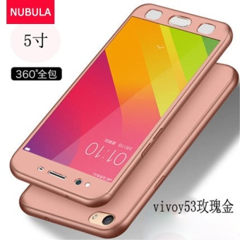 NUBULA Phone Case For VIVO Y53 360 Degree Real Full Body Ultra-thinHard Slim PC Protective Case Cover With Tempered Glass - intl