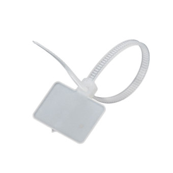 Number Mark Cable Label Tags Ties - White (100 PCS) - picture 2