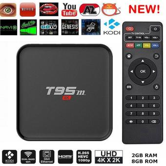 oanda [New Advanced Version]T95M Android TV Box Amlogic S905X KODI 16.0 Pre-installed 4K 2G/8G Quad Core Set Top Box Streaming Media Player