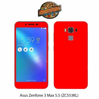 Oddstickers Premium Matte Red Phone Skin Cover for Asus Zenfone 3Max 5.5