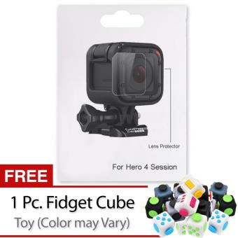 OEM Hero Lens Protector Covers with Provided Soft MicrofiberCleaning Cloth for GoPro Hero4 Session/GoPro Hero5 Session withFree Fidget Cube (color may vary)