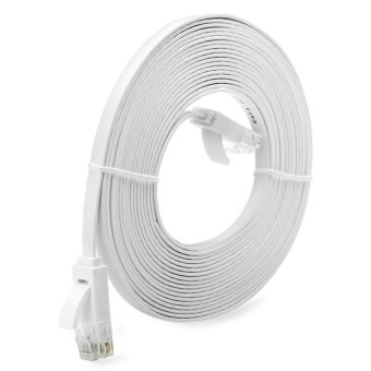 OH 10M Super Long RJ45 Super High Speed Flat Type Ethernet NetworkCable White - intl Price Philippines