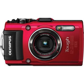 Olympus Stylus Tough TG-4 16 MP Digital Camera (Red)