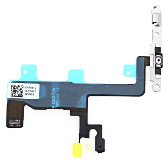 On / OFF Power Volume Button Mute Control Mic Flash Metal PlateFlex Cable Replace Part For IPhone 6 - intl