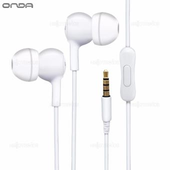 Onda AD20 Earphone High-Fidelity Comfortable with Earbuds Smooth Sound (White)