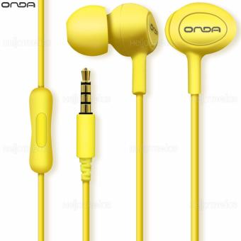 Onda AD20 Earphone High-Fidelity Comfortable with Earbuds Smooth Sound (Yellow)