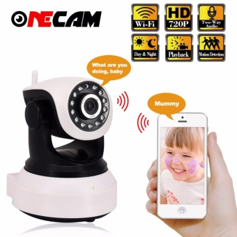 Onecam 720P 1.0MP IP Camera WiFi Wireless Smart Security CameraWI-FI Audio Record Surveillance Network Mini CCTV Camera - intl Price Philippines
