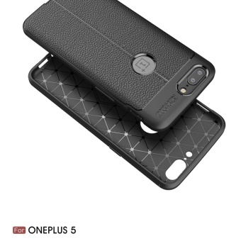 OnePlus 5 Case , Mooncase [Ultra-Thin] Anti-Scratch Imitation Leather Print Back Cover Premium Matte TPU Protect Cover - intl - 4