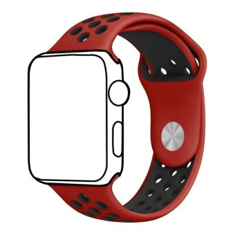 Ontube For Apple Watch Band Nike+ Series 1 Series 2, Soft Silicone Sport Bracelet Replacement Strap for iwatch band M/L Size 42mm - intl