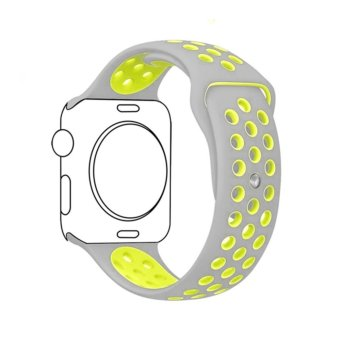 Ontube For Apple Watch Band Nike+ Series 1 Series 2, Soft SiliconeSport Bracelet Replacement Strap for iwatch band M/L Size 38mm -intl