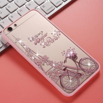 OPPO F1S/A59/A59S Pink diamond TPU fashion phone case/Bike Tower - intl