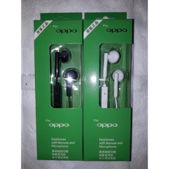 oppo In-Ear Wired Headset Earphone In(black)-long box