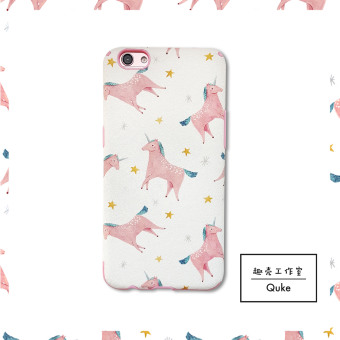 Oppo r9plus/oppor7s/r7plus Korean protective unicorn phone case