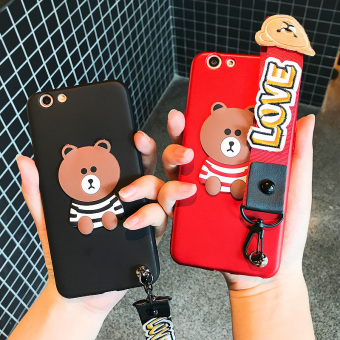 Oppoa59/A57/a37/a59m cute silicone drop-resistant men and women soft case phone case