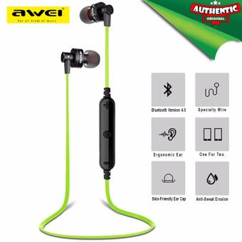 Original AWEI A990BL Wireless Sports Earphones (Green)