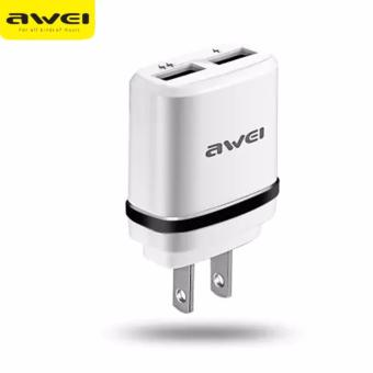 Original AWEI C-920 Double USB Output Fast Charger (Black)