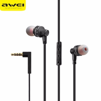 Original Awei ES-10TY Powerful Sound Earphone (Black)