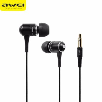 Original AWEI ES-Q3 In-Ear Noise Isolation Earphone (Black)