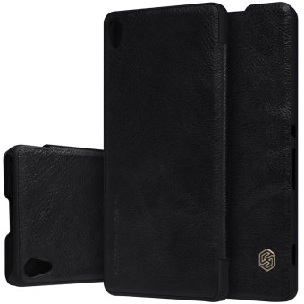 Original case For sony xperia xa ultra cover vintage flip cover PULeather Case PC back cases for sony xperia xa ultra 6.0 inch Black- intl