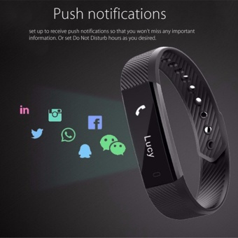 Original ID115 Smart Bracelet Fitness Tracker Watch Alarm Clock Step Counter Smart Wristband Band Sport Sleep Monitor Smartband - intl - 4