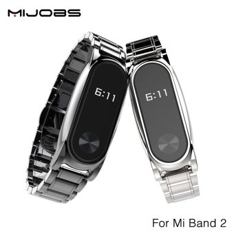 Original Mijobs Metal Strap For Xiaomi Mi Band 2 Straps Screwless Stainless Steel Bracelet Replace Accessories For Mi Band 2 - intl