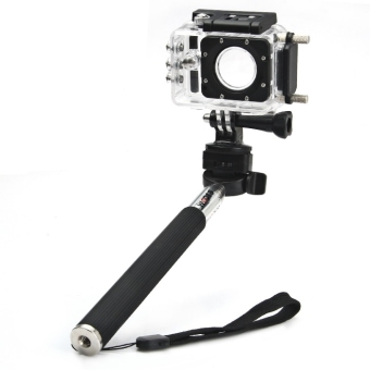 Original SJCAM Foldable Selfie Stick Camera Monopod with Adapter for GoPro Hero 4 / 3+ / 3 / 2 / 1 / SJ4000 / SJ5000 / SJ6000 Action Camera (Black) - intl - 3