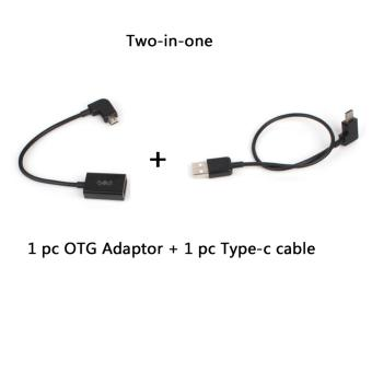 OTG Adapter and Type-c to USB Data Cable Data Line for Smart Phone DJI SPARK/ MAVIC PRO/ Phantom 3/4 and Inspire 1/2 Remote Controller