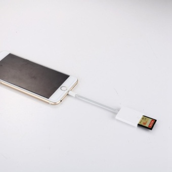 OTG SD Card Reader Digital Camera Reader Adapter Cable for iPhone5/6/7 and iPad White - intl - 3