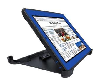 Otter Rugged Case Box Shockproof Silicone / PC Fall Case Suitablefor Apple ipad 2 / 3 / 4 (Black/Blue)