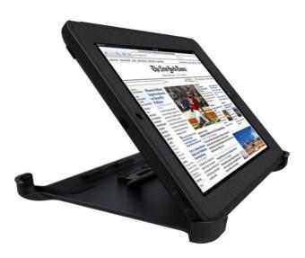 Otter Rugged Case Box Shockproof Silicone / PC Fall Case Suitablefor Apple ipad mini 2 / 3 (Black)