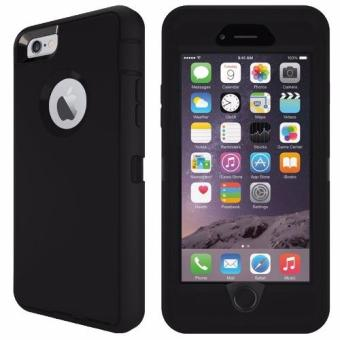 Otter Rugged Case Box Shockproof Silicone/PC Case for Apple iPhone6 Plus / 6s Plus (Black/Black)