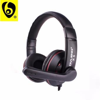 OVLENG ETT? X5 Comfortable Fit Over the Ear Headphone with mic forSmartphone and Mp3 Player (Red)