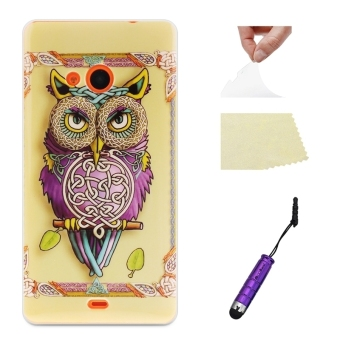 Owl Ultra-thin Soft Back Case Cover Shell Protector Nokia Lumia 535Case