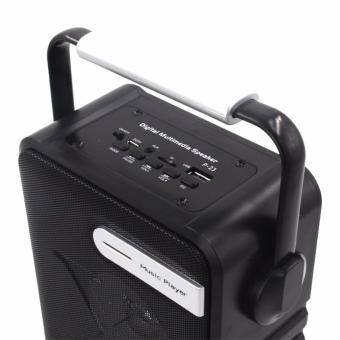 P-23 Digital Multimedia Wireless Portable Bluetooth Speaker with FM& TF Card Function (Black) - 4