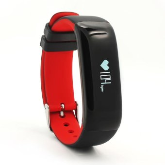 P1 Bluetooth 4.0 Waterproof IP67 Smart Wristband Smartband BloodPressure Monitor Heart Rate Monitor Smart Bracelet Fitness TrackerSmart Band for Android and IOS - Red - intl