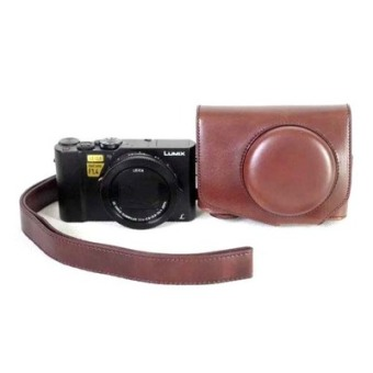 Panasonic lx10/lx10 with shoulder strap camera bag leather cover