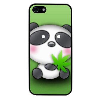 Panda Cute Pattern Phone Case for iPhone 5C (Black)