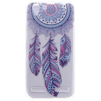 Patterned TPU Gel Phone Case for Lenovo Vibe K5 / Vibe K5 Plus -Tribal Dreamcatcher - intl