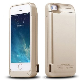 PBCEB01 2200mAh Extended Battery Case Back Up Power Bank for iPhone 5/5S/5C (Gold)