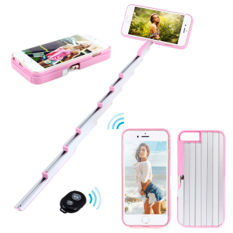 PC Selfie Stick Phone Case for iPhone 6/6S (Pink) - intl