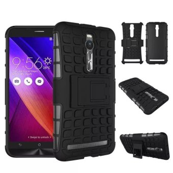 PC + TPU Phone Back Case for Asus Zenfone 2 ZE550ML ZE551ML (Black)