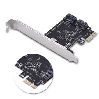 PCI-E Cards PCI Express to SATA 3.0 2-Port SATA III 6Gbps Expansion Adapter Boards - intl