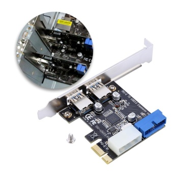 PCI-E To USB3.0 Expansion Card With Front 20PIN Interface - intl