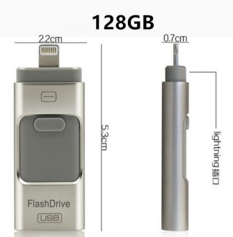 Pen Drive for Andorid/apple Iphone 6s USB Flash Drive 128GB USB Stick Andorid 4.5+ OTG Pendrive U Disk 3 In 1 Memory Stick USB 2.0 - intl