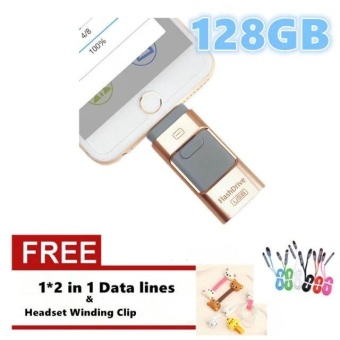 Pen Drive for Andorid/apple Iphone 6s USB Flash Drive 128GB USBStick Andorid 4.5+ OTG Pendrive U Disk 3 In 1 Memory Stick USB 2.0- intl