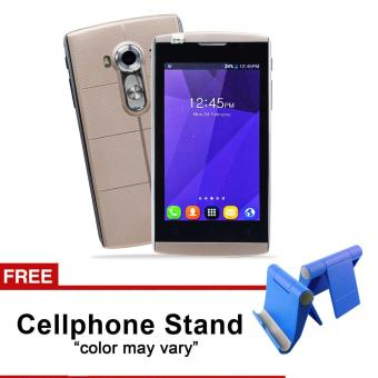 Phonix Mobile P5 4.0HD LCD Dual Sim (Gold) with FREE CellphoneStand (Color May Vary) Price Philippines