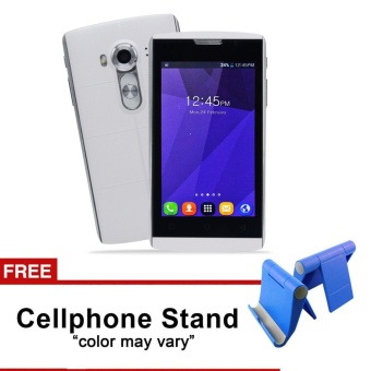 Phonix Mobile P5 4.0HD LCD Dual Sim (White) with FREE CellphoneStand (Color May Vary) Price Philippines