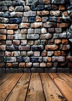 Photo Backdrops Children Brick Walls Studio Props Vinyl DigitalBackground Wooden Floor 150x210cm jp028 - intl