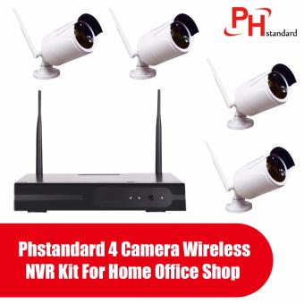 Phstandard 4 Camera Wireless NVR Kit For Home Office Shop